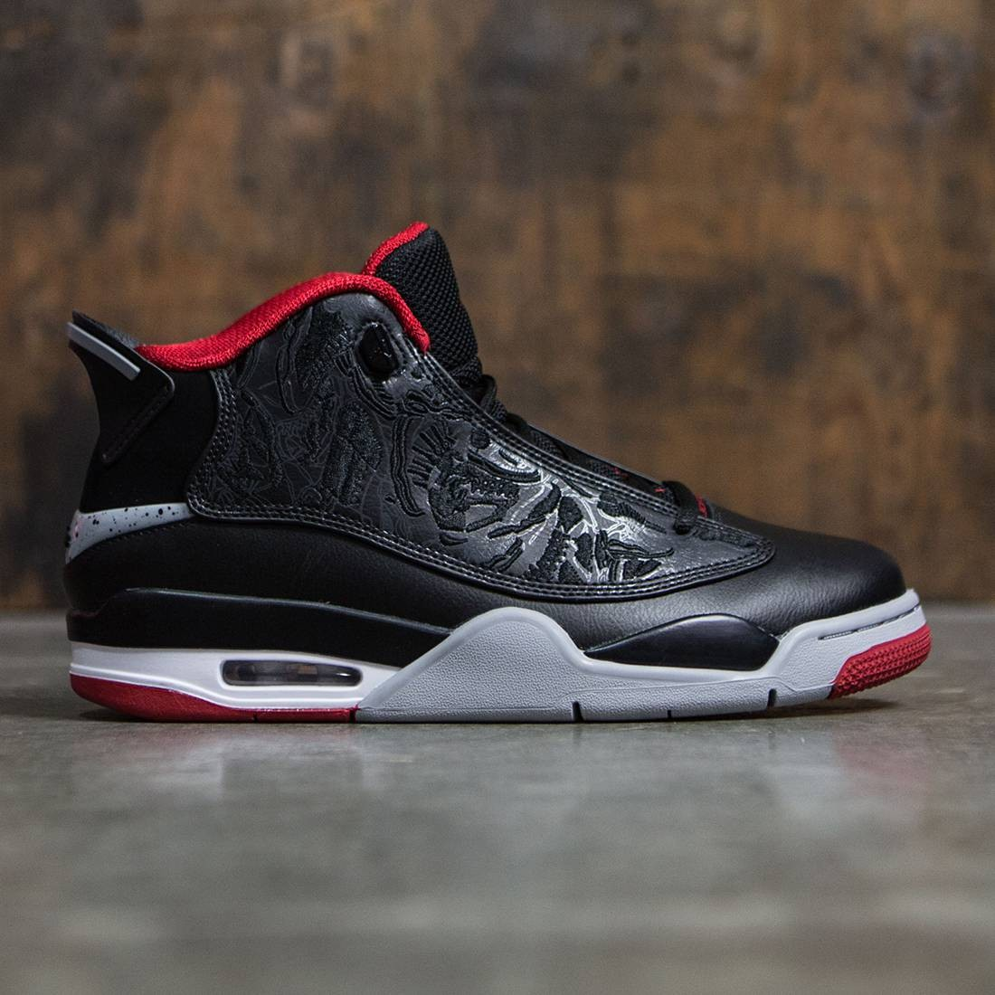 Air Jordan Dub Zero Men (black / gym red-wolf grey-white)