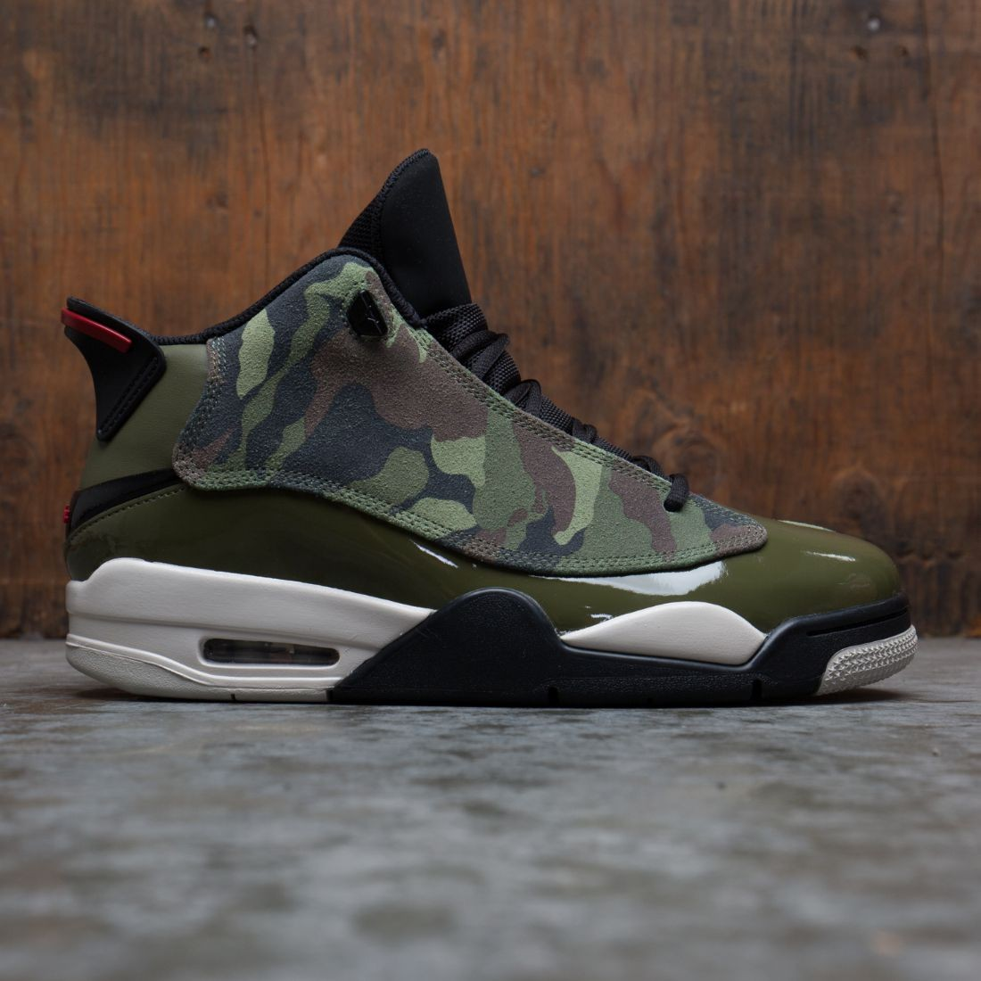 Jordan Men Air Jordan Dub Zero (medium olive / gym red-black-light bone)