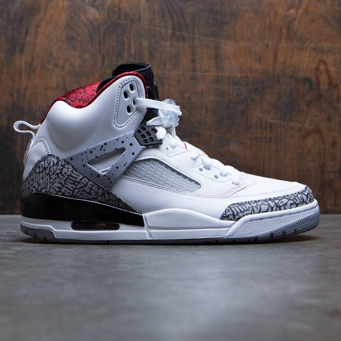 new product 43b42 f87c8 jordan men jordan spizike white varsity red cement grey black