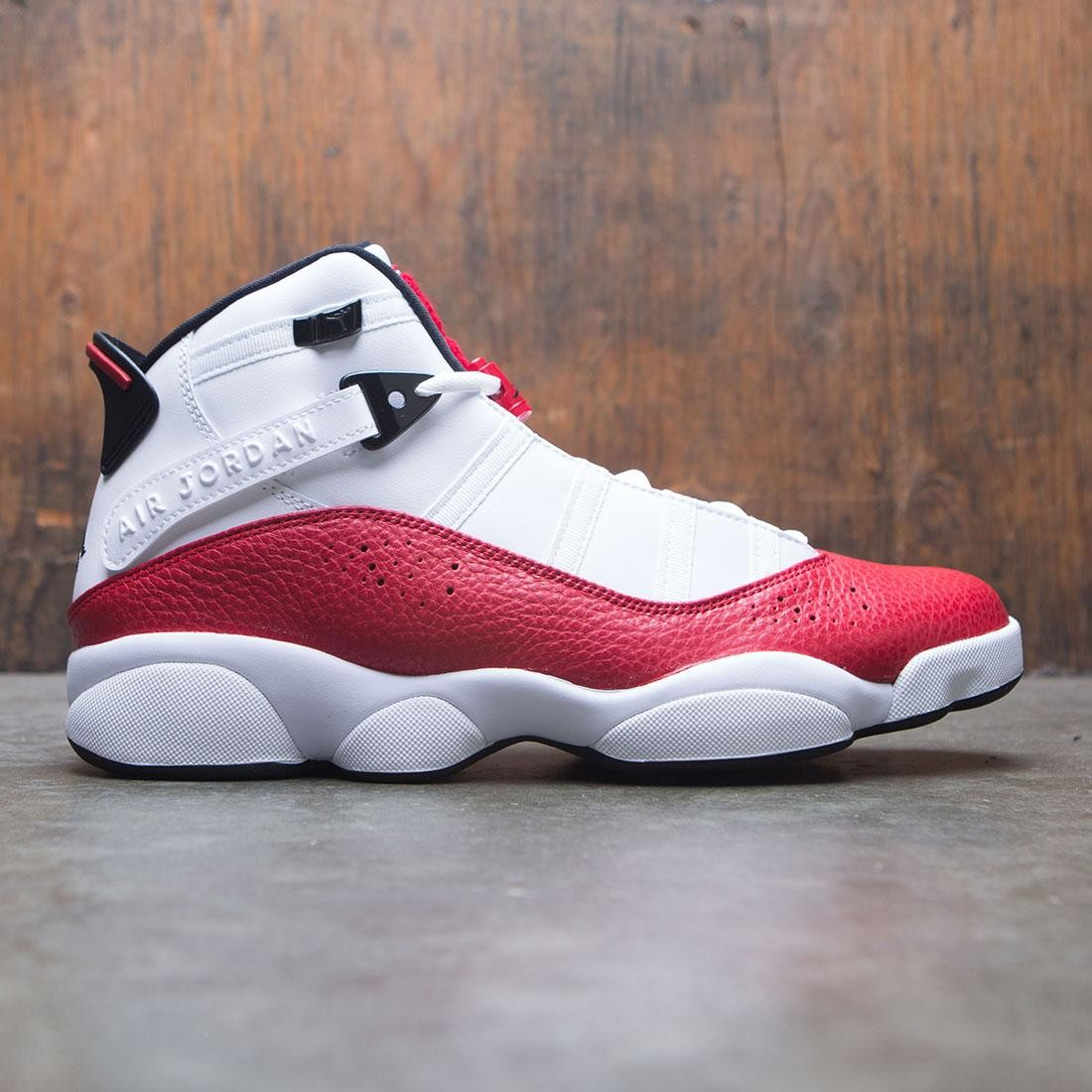 purchase cheap 0bb30 8b538 jordan men jordan 6 rings white black university red
