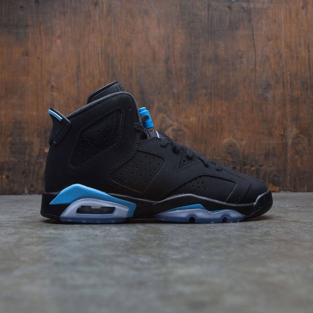 dd06615c394 jordan big kids air jordan 6 retro gs black university blue