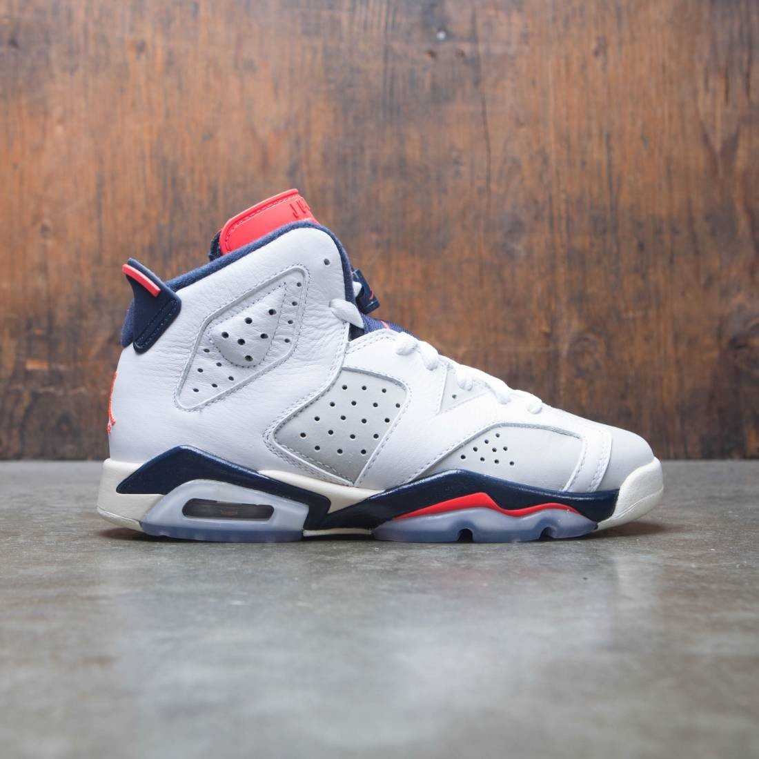 eb508061dc5 jordan big kids air jordan 6 retro gs white infrared 23 neutral grey  obsidian