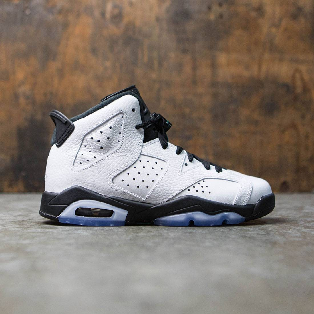 56c90ed6763 Jordan Big Kids Air Jordan 6 Retro (GS) (white   white-hyper jade-black)