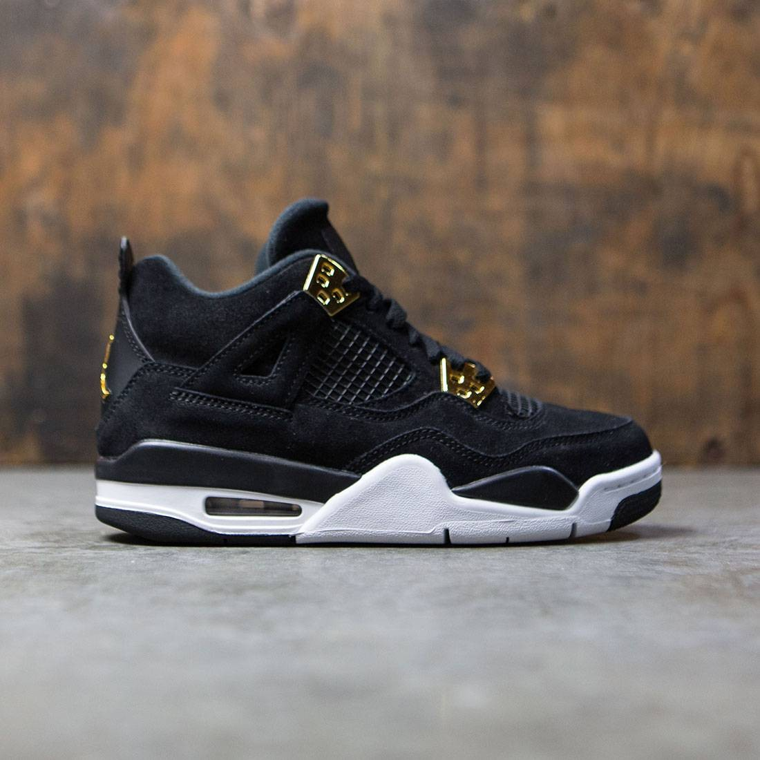 Air Jordan IV Retro Big Kids (black / metallic gold-white)