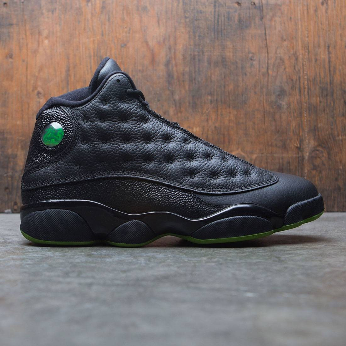 uk availability 2345a ebc75 jordan men air jordan 13 retro black altitude green