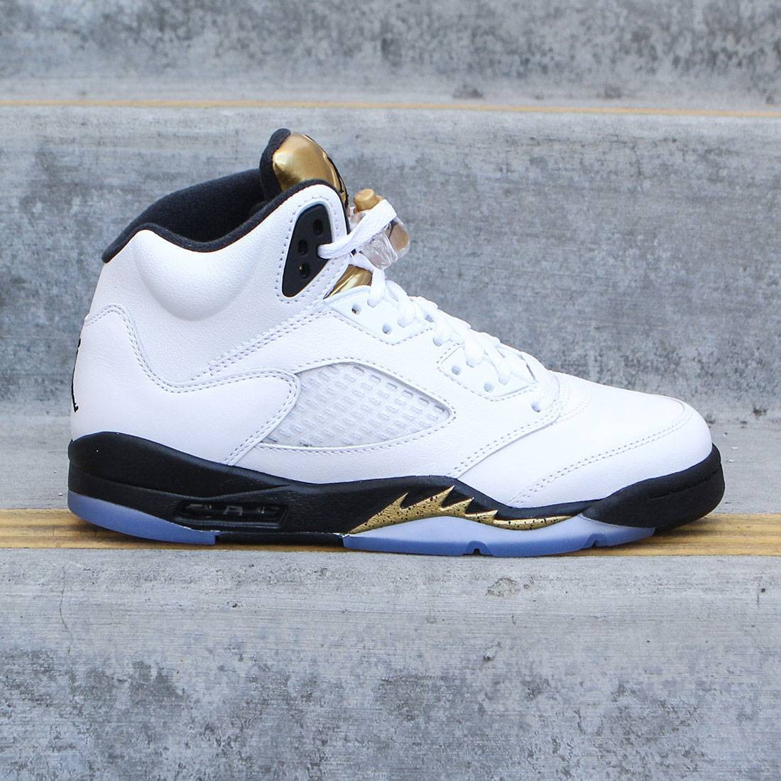 a148c201ee6 Jordan Big Kids Air Jordan 5 Retro (GS) (white / black-mtlc gold coin)