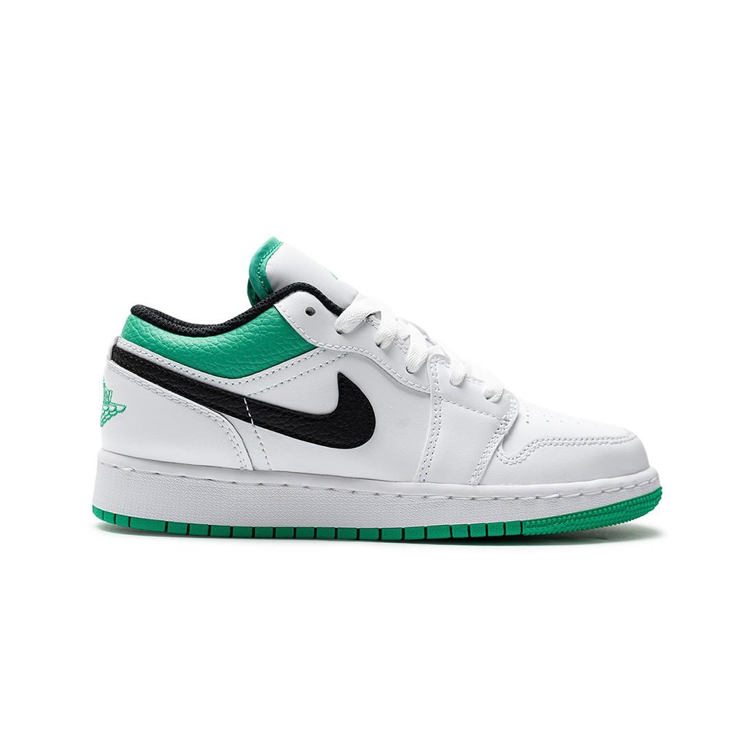 Air Jordan 1 Low Big Kids  (white / stadium green-black)