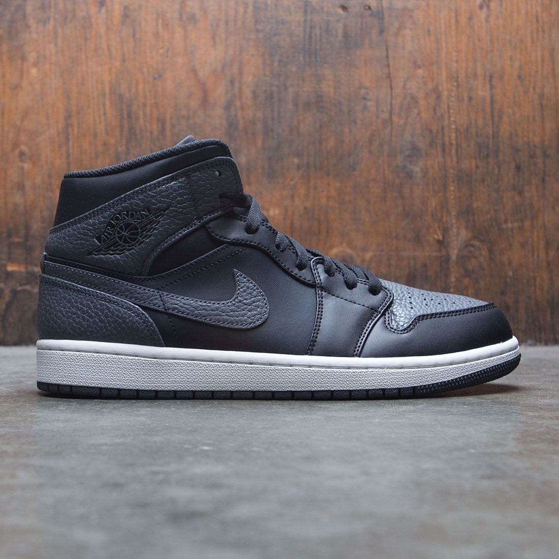new style 38bf9 c2faa jordan men air jordan 1 mid black dark grey summit white