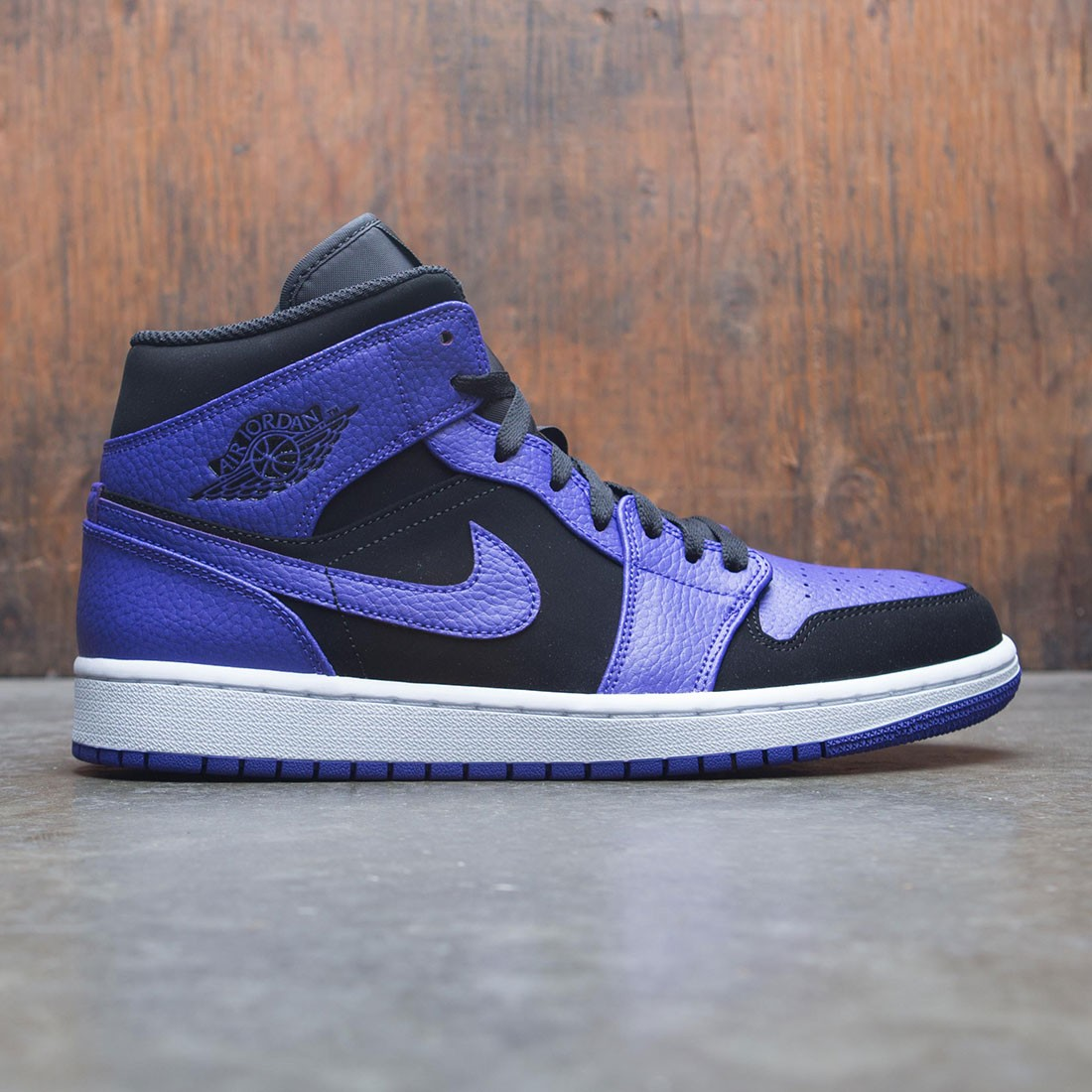 huge discount caf44 a21c0 jordan men air jordan 1 mid black dark concord white