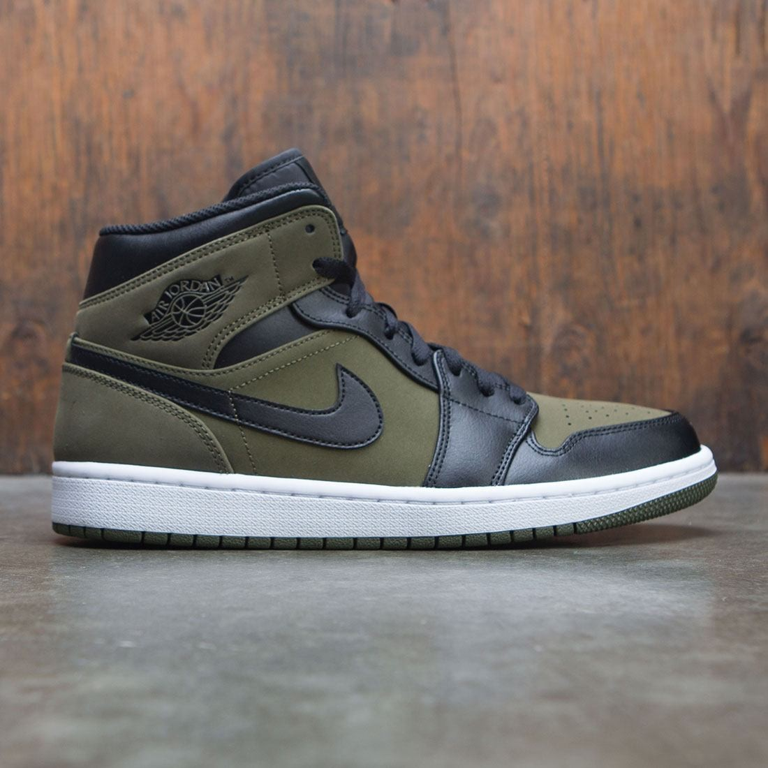 jordan men air jordan 1 mid olive canvas black white d2e0bd6dc