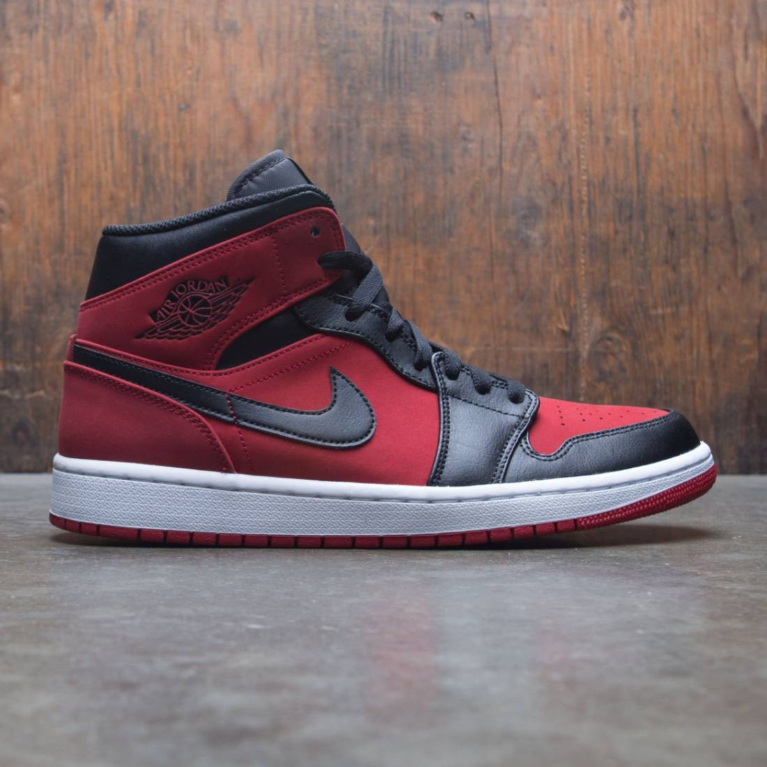 new style 3520f ec114 jordan men air jordan 1 mid gym red black white