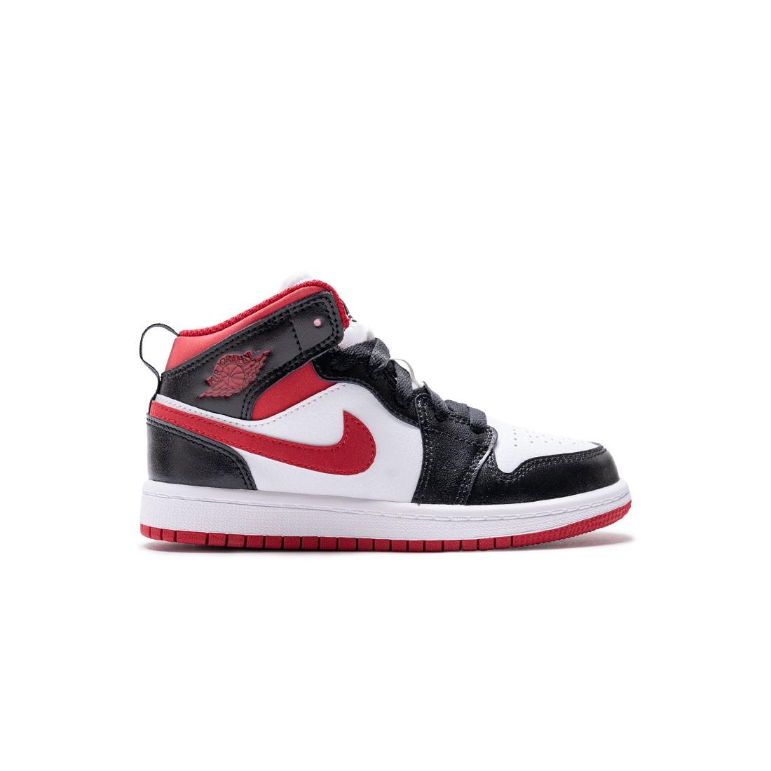 Jordan Little Kids 1 Mid (white / gym red-black)