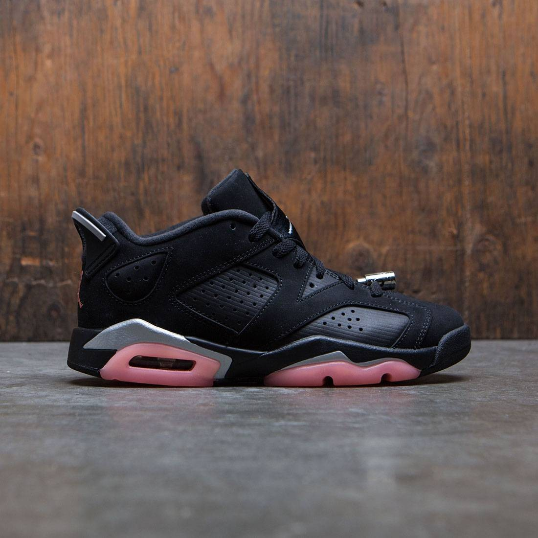 543d6bdad40 jordan big kids girls  air jordan vi retro low gs black sunblush metallic  silver