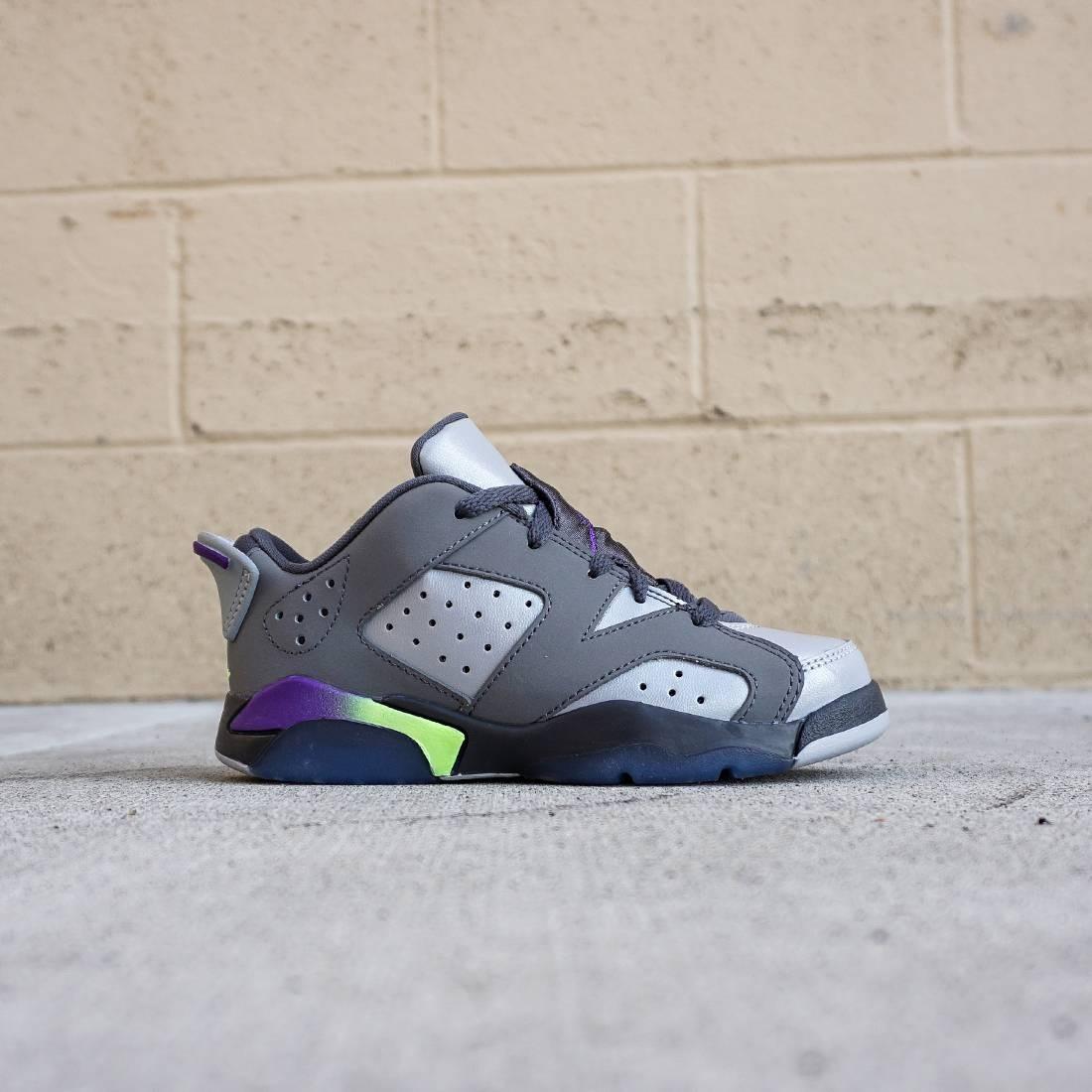 322a3deea76 Jordan Little Kids Air Jordan 6 Retro (gray   ultra violet   ghost green)