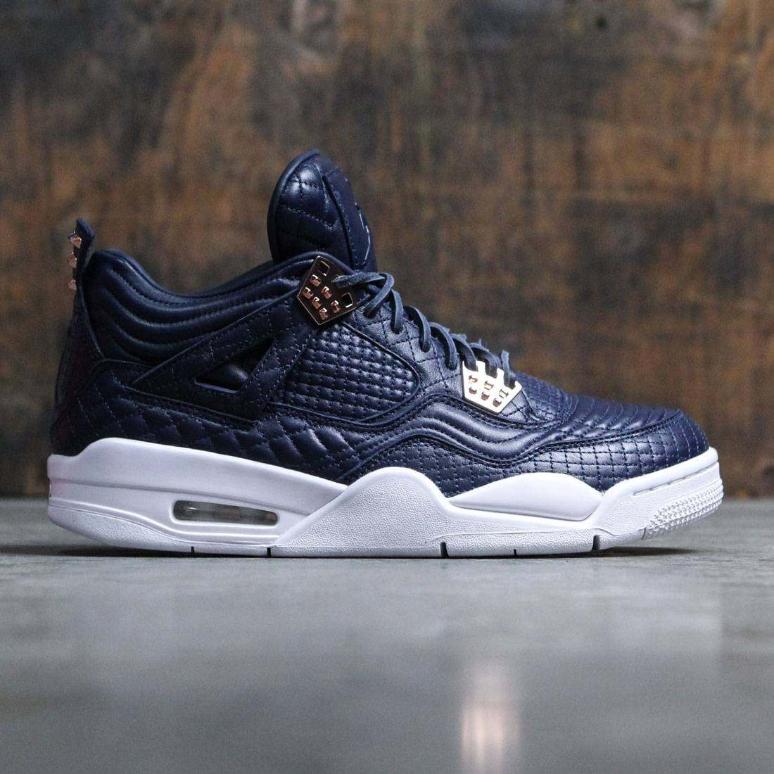 ac851183a0b8 Jordan Men AIR JORDAN 4 RETRO Pinnacle PREMIUM (navy   obsidian   obsidian -white)