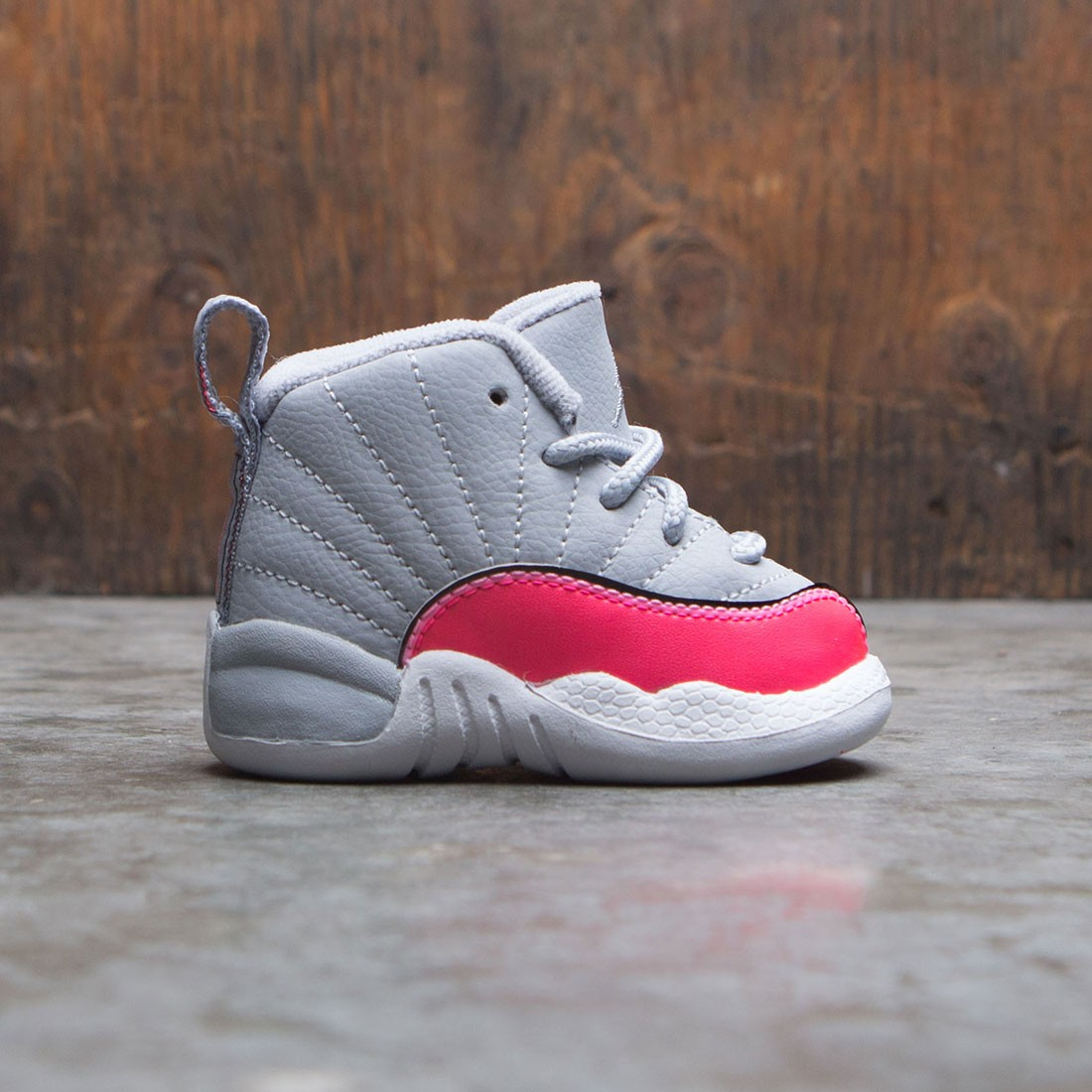 Jordan Toddlers 12 Retro (wolf grey / racer pink-black)