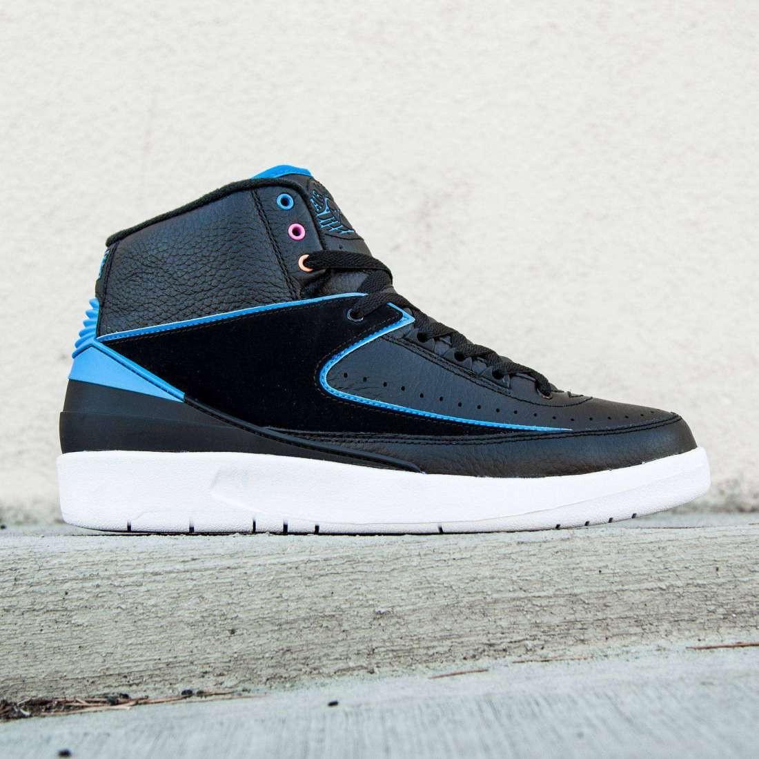 separation shoes 79a89 75403 Jordan Men Air Jordan 2 Retro (black  photo blue  pink)