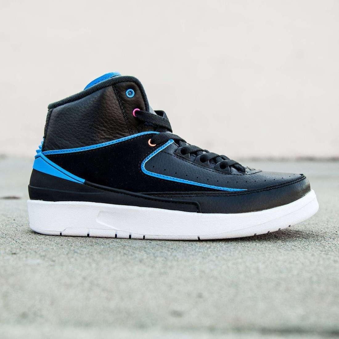 best loved b8cd5 53775 Air Jordan 2 Retro Big Kids (black / photo blue / pink)