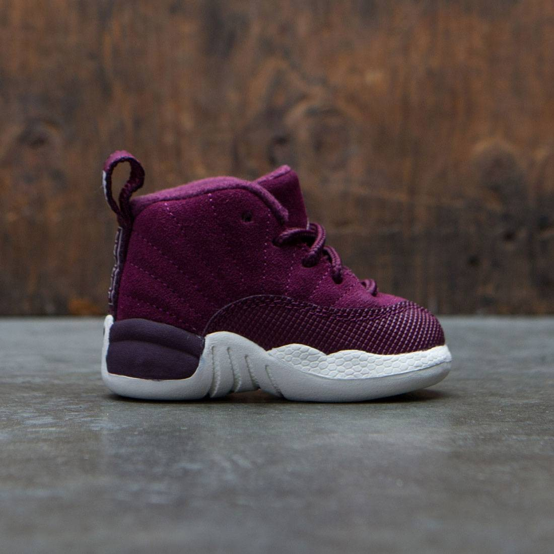 Air Jordan 12 Retro (TD) Toddler (bordeaux / sail-metallic silver)