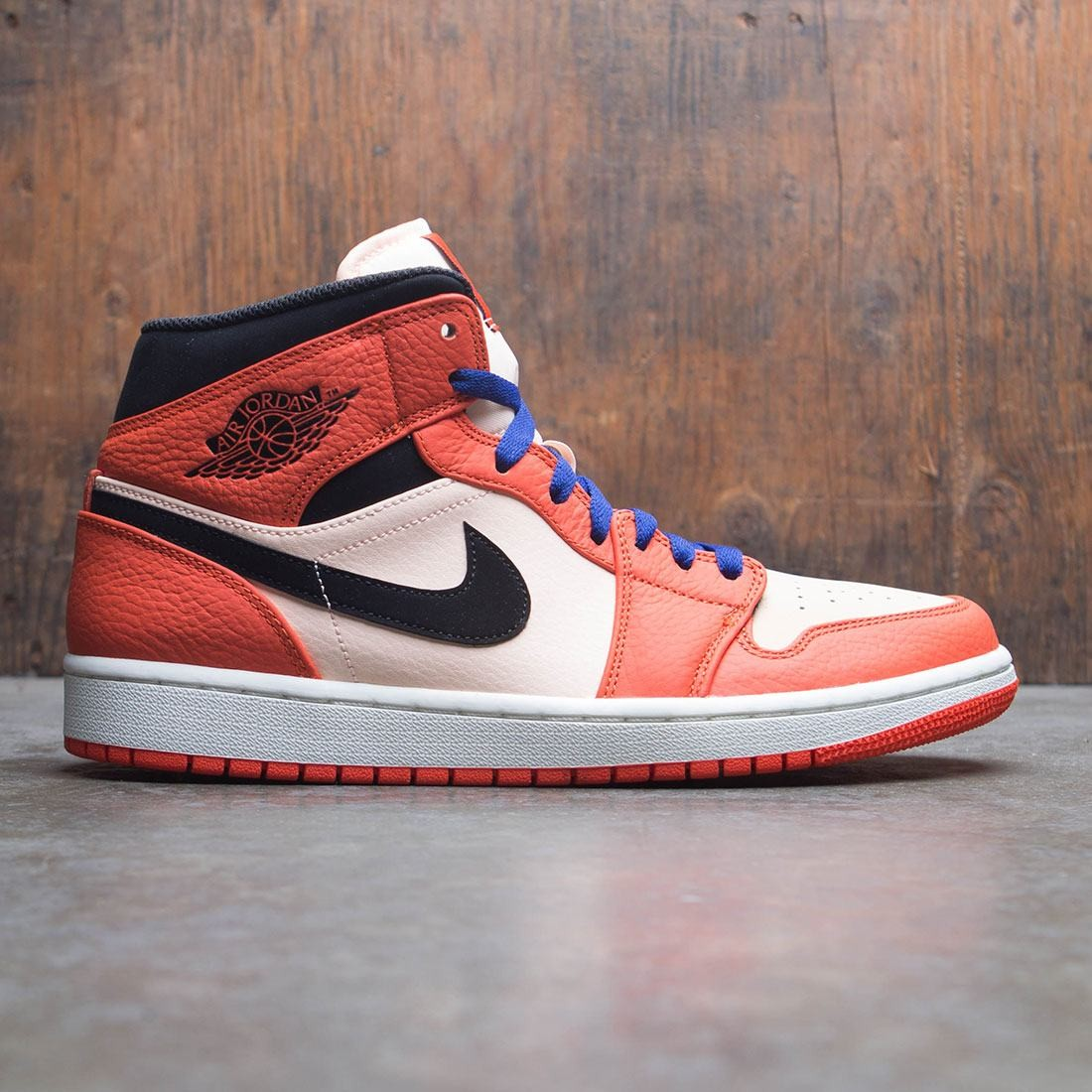 bab5d120b3b1 jordan men air jordan 1 mid se team orange black crimson tint