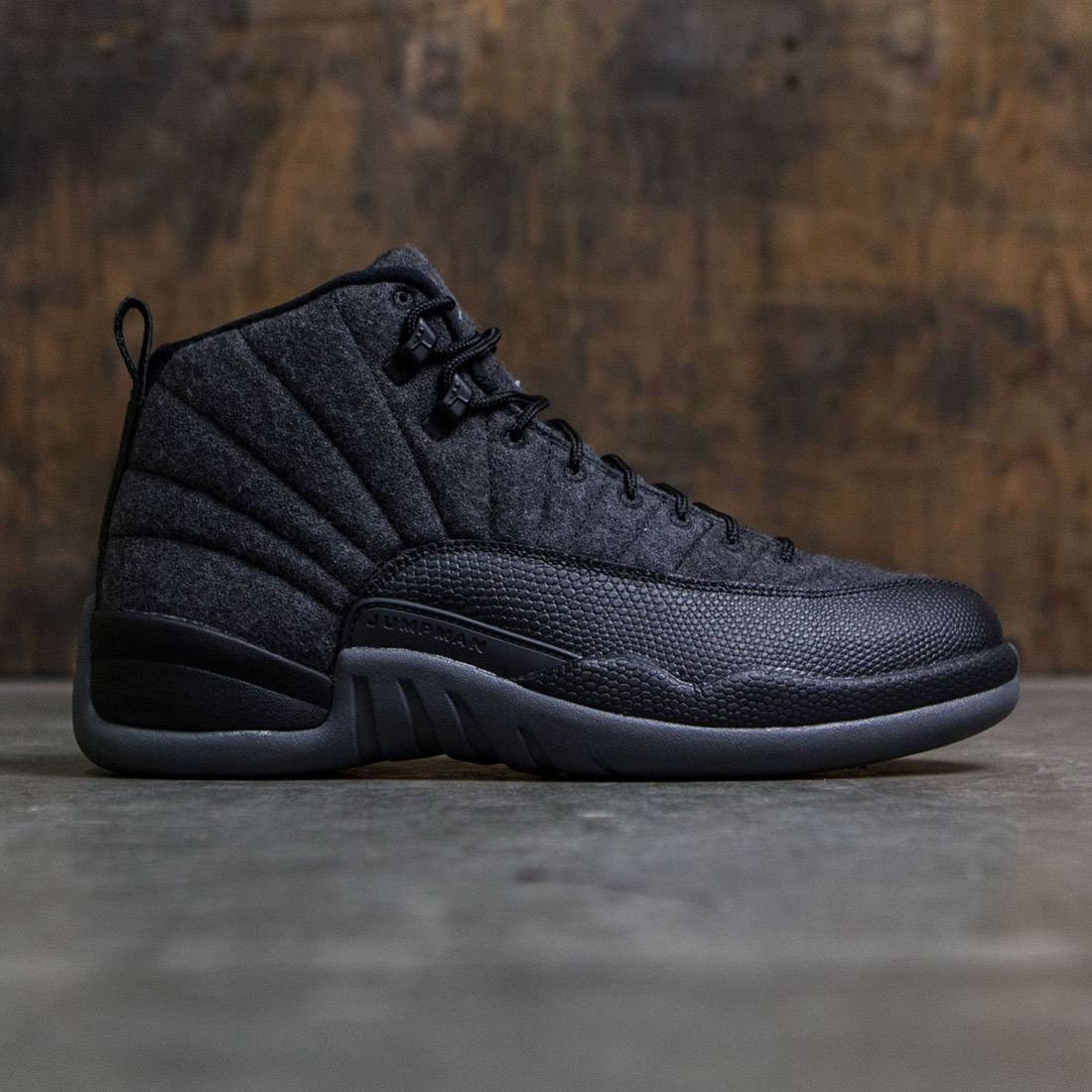 Air Jordan 12 Retro Wool Men (dark grey / metallic silver-black)