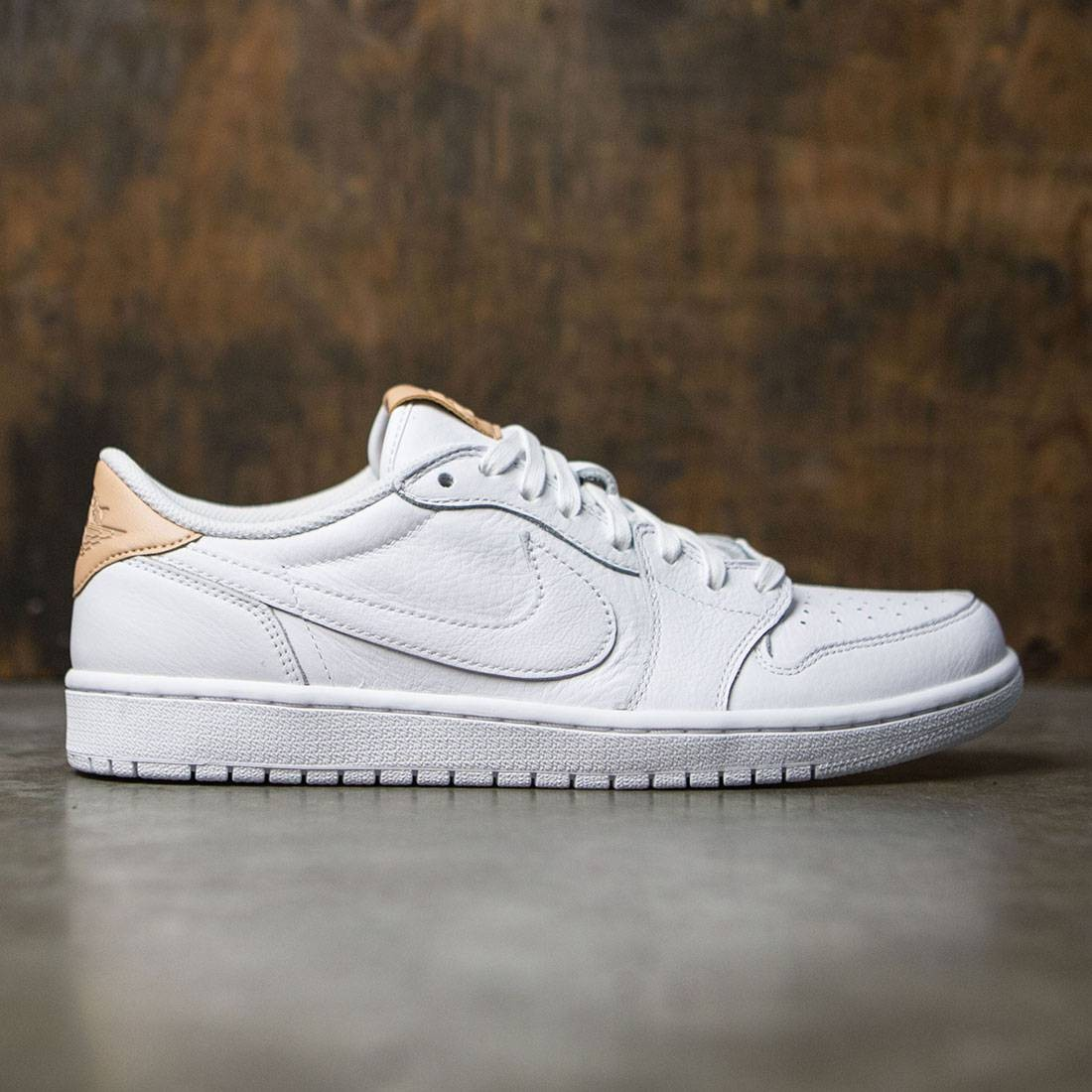 bf82cd9fe588ed jordan men air jordan 1 retro low og premium white vachetta tan white
