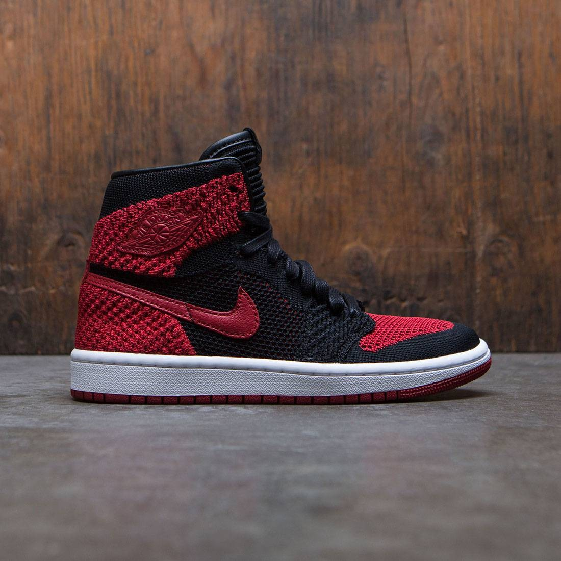 72d632e7daa233 jordan big kids air jordan 1 retro high flyknit gs black varsity red white