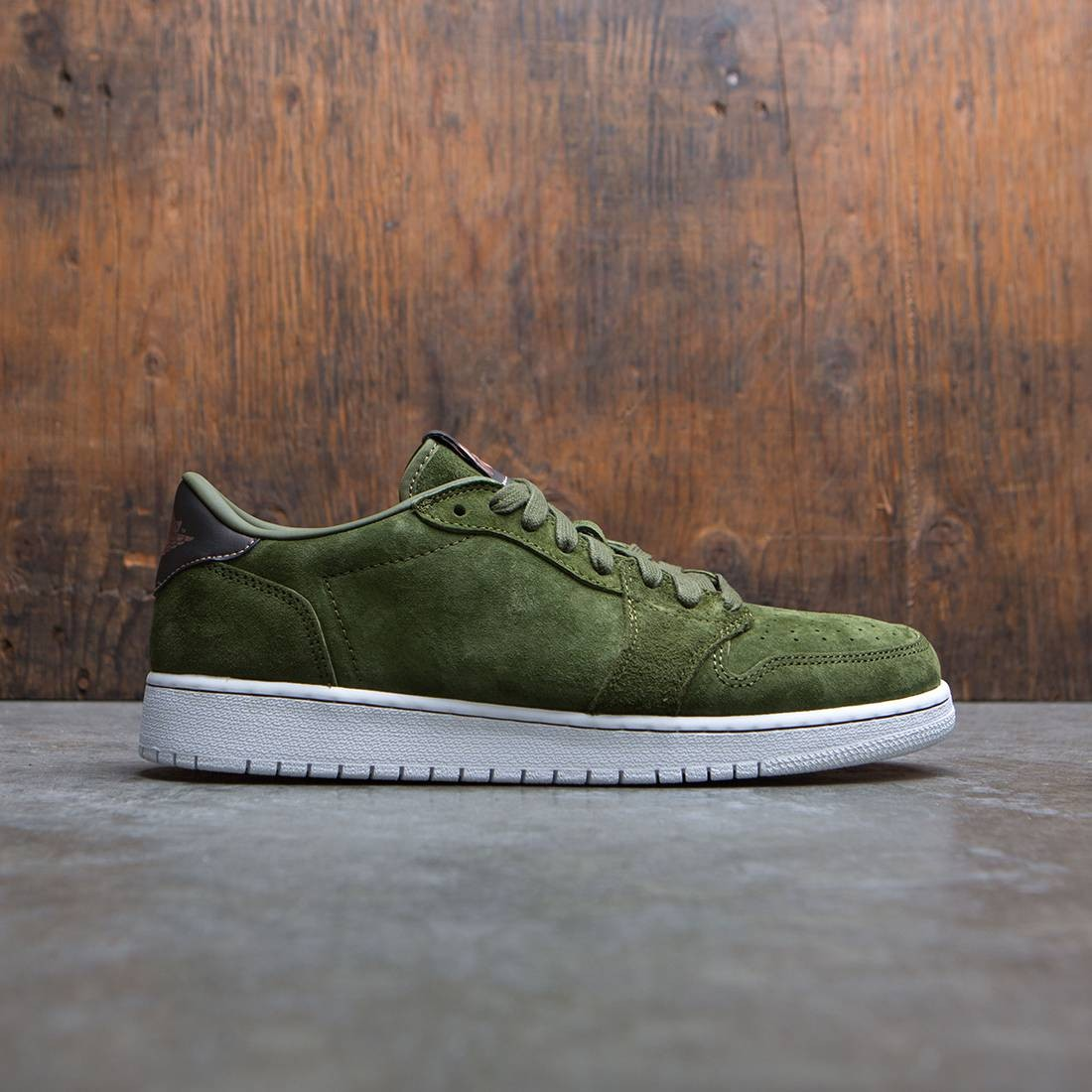 32885717f37d11 jordan big kids girls  air jordan 1 retro low no swoosh heiress collection  gs green legion green mtlc red bronze white