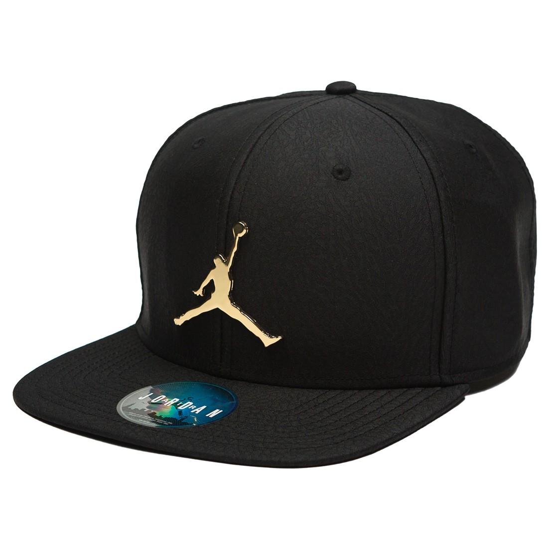 Jordan Men Unisex Jumpman Elephant Print Ingot Pro Hat (black / black / gold)