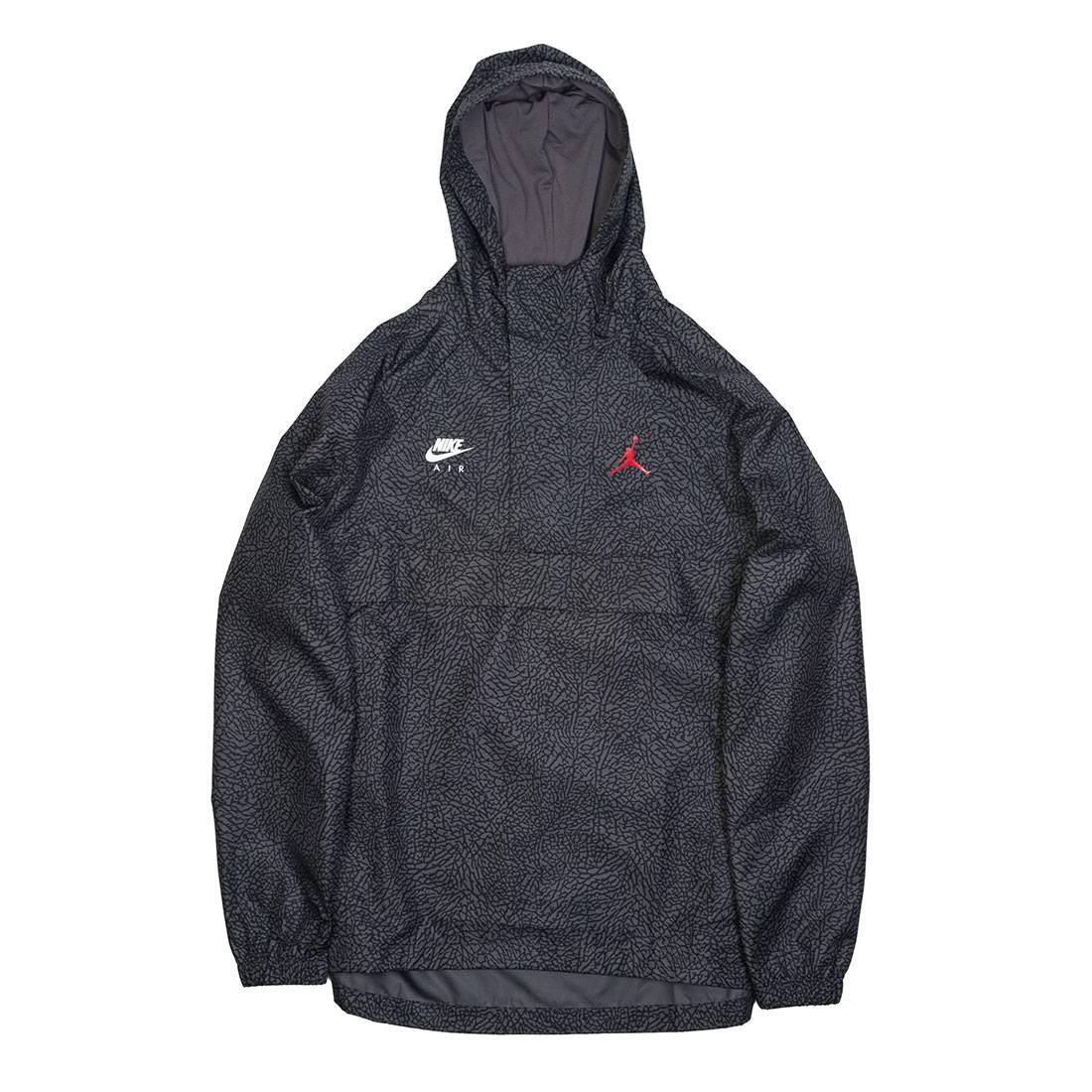 56c9e6ba7c1 jordan men jordan sportswear wings 1988 anorak grey dark grey gym red