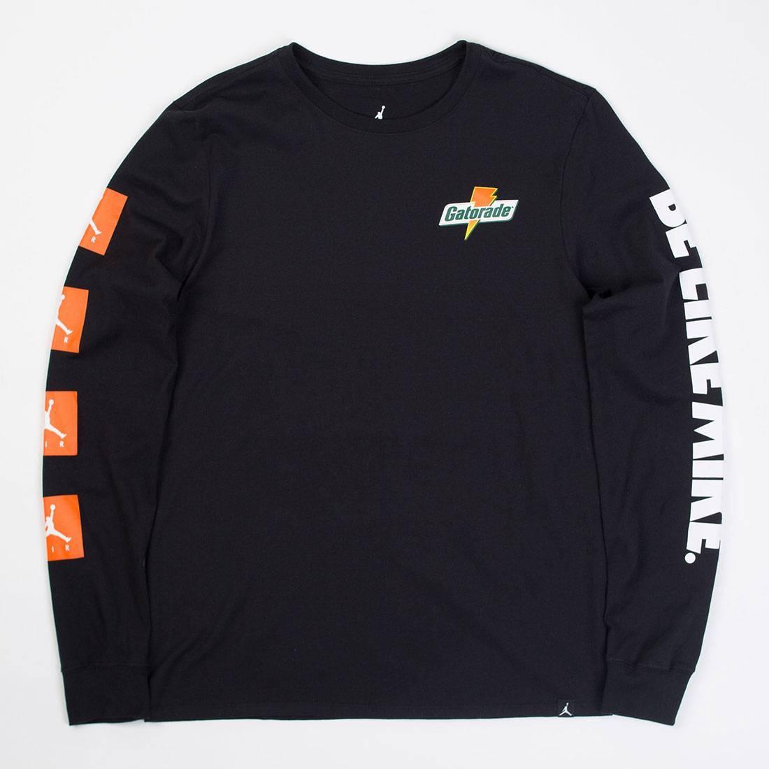 Jordan Men Sportswear Be Like Mike Long-Sleeve Tee (black)