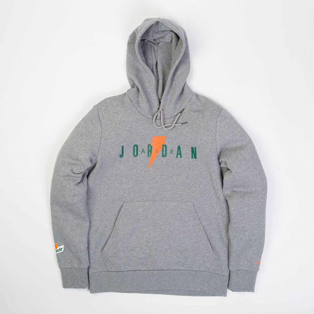 4eac276ddb2132 Jordan Men Sportswear Like Mike Fleece 3 Pullover Hoodie (grey   carbon  heather)