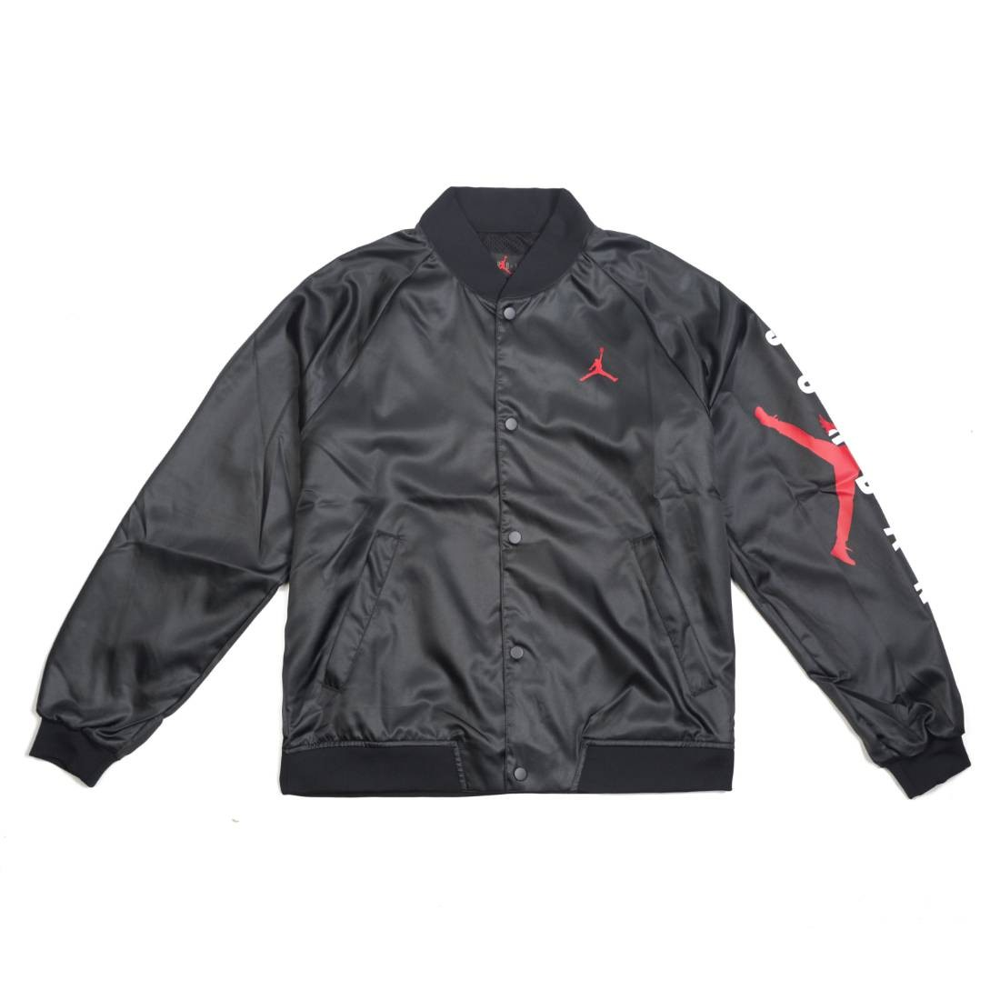 3666f77729a6ab jordan men jordan jumpman air coach jacket black gym red