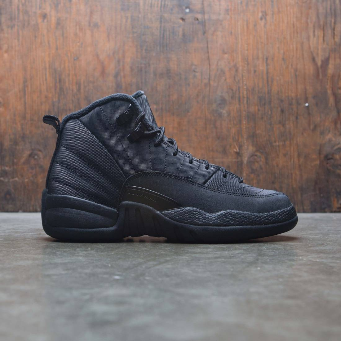 fe0aa798fffb04 jordan big kids air jordan 12 retro wntr gs black black anthracite