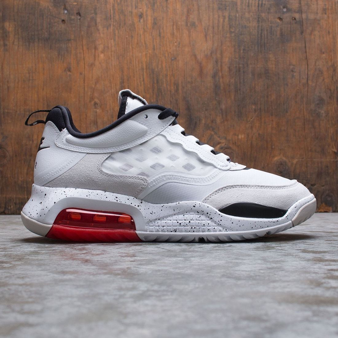 Jordan Men Air Max 200 (white / black-challenge red-vast grey)