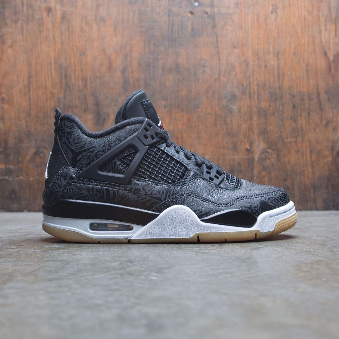 sports shoes 103dd cbae8 jordan big kids air jordan 4 retro se gs black white gum light brown