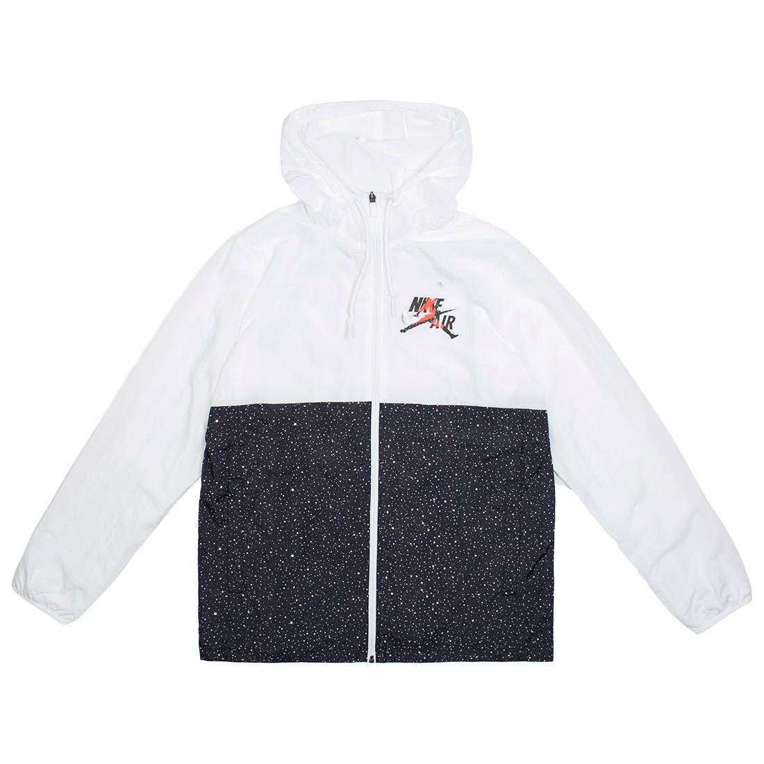 Jordan Men Jumpman Classics Jacket (white / black / infrared 23 / metallic silver)
