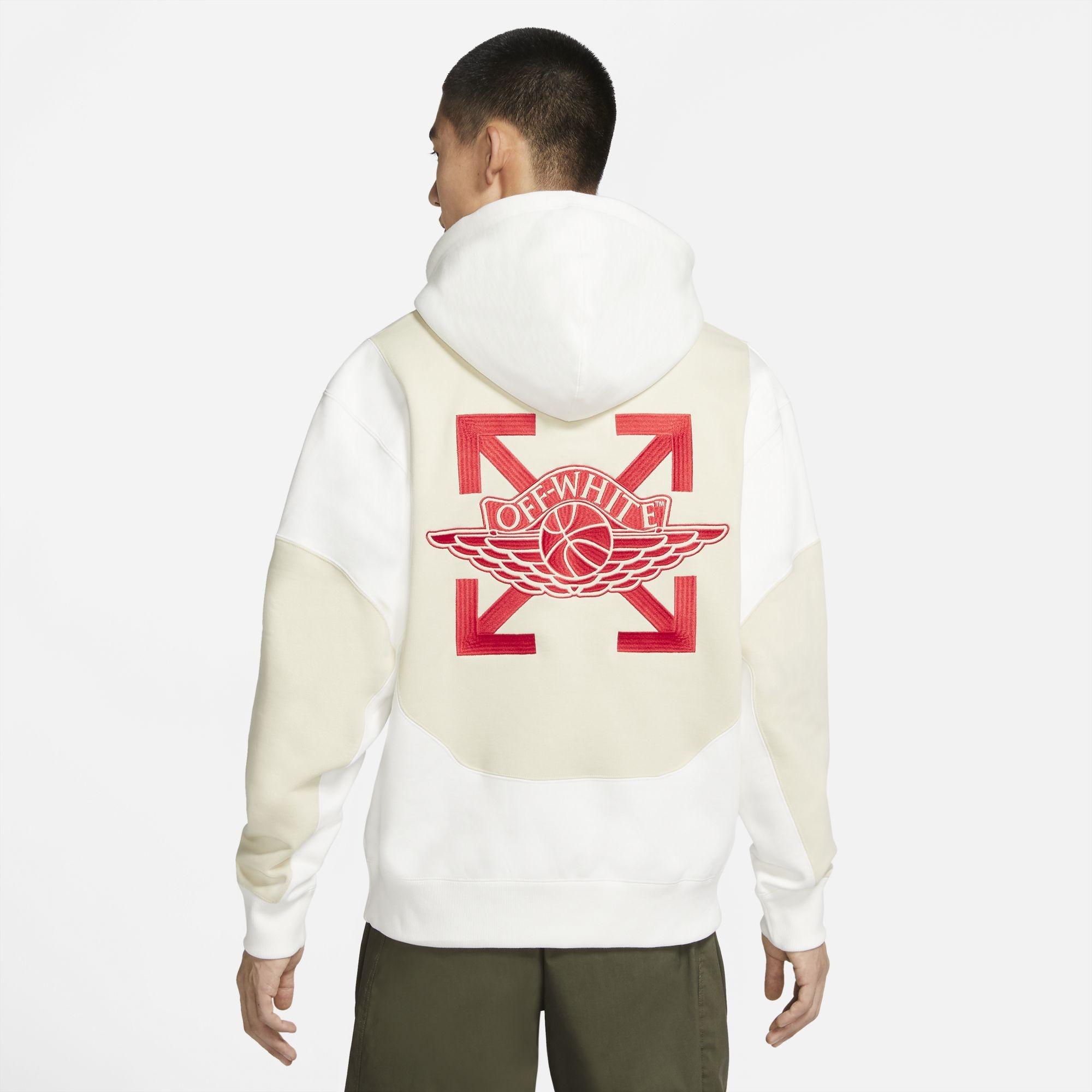 Jordan Men Jordan x Off-White Hoody (sail / fossil / university red)