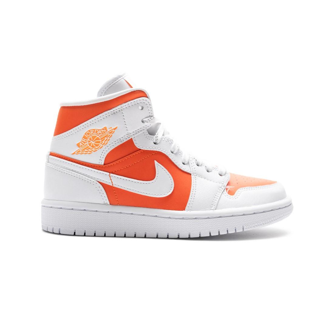 Air Jordan 1 Mid SE Women  (bright citrus / white)