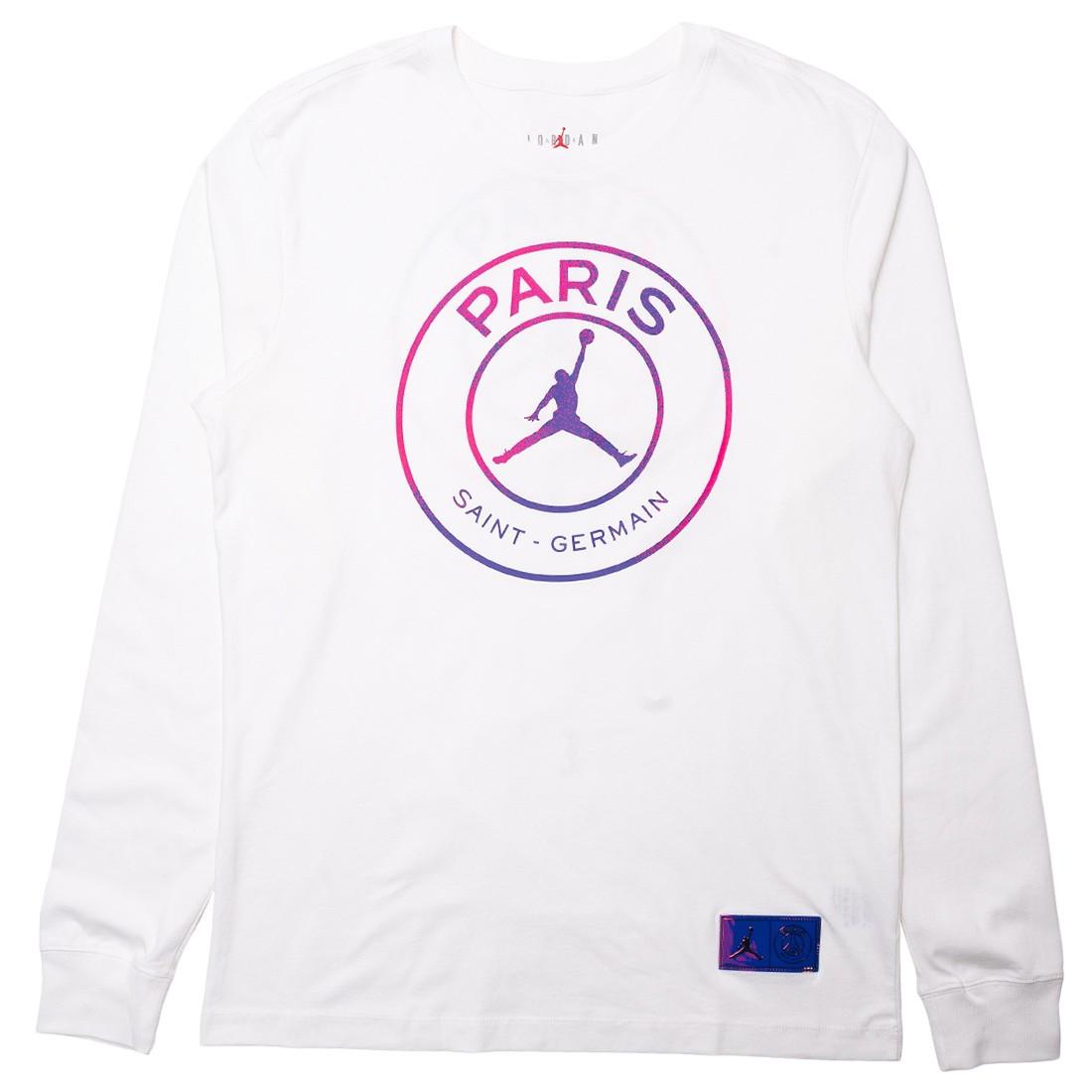 Jordan Men Paris Saint-Germain Long Sleeves Tee (white)