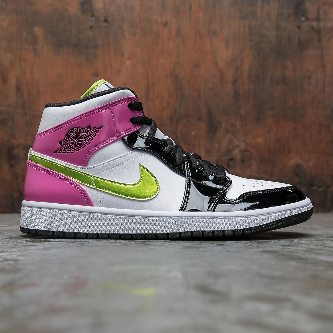 Air Jordan 1 Mid SE Men (white / cyber-active fuchsia-black)