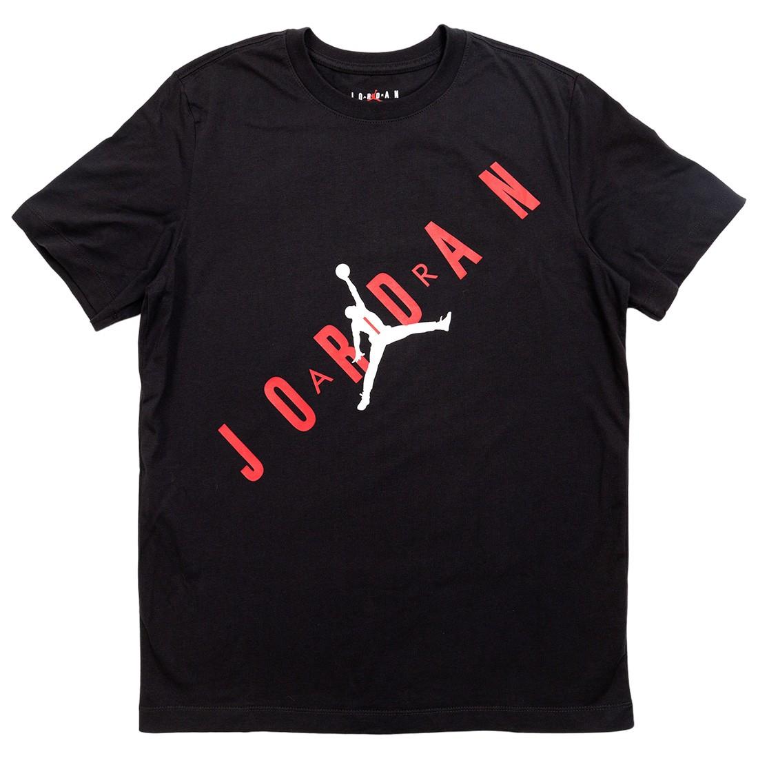 Jordan Men HBR Tee (black / gym red / white)