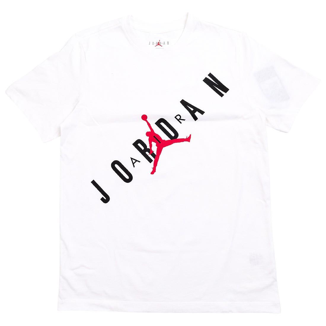 Jordan Men HBR Tee (white / black / gym red)