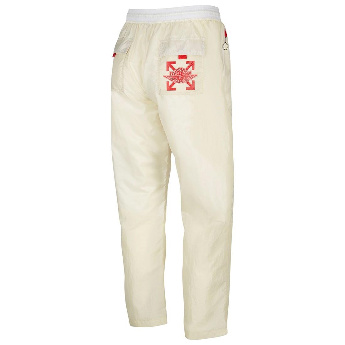 Jordan Men Jordan x Off-Whit Pants (fossil / sail / university red)