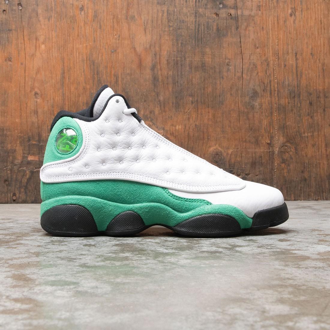 AIR JORDAN 13 RETRO (GS) Big Kids (white / lucky green-black)