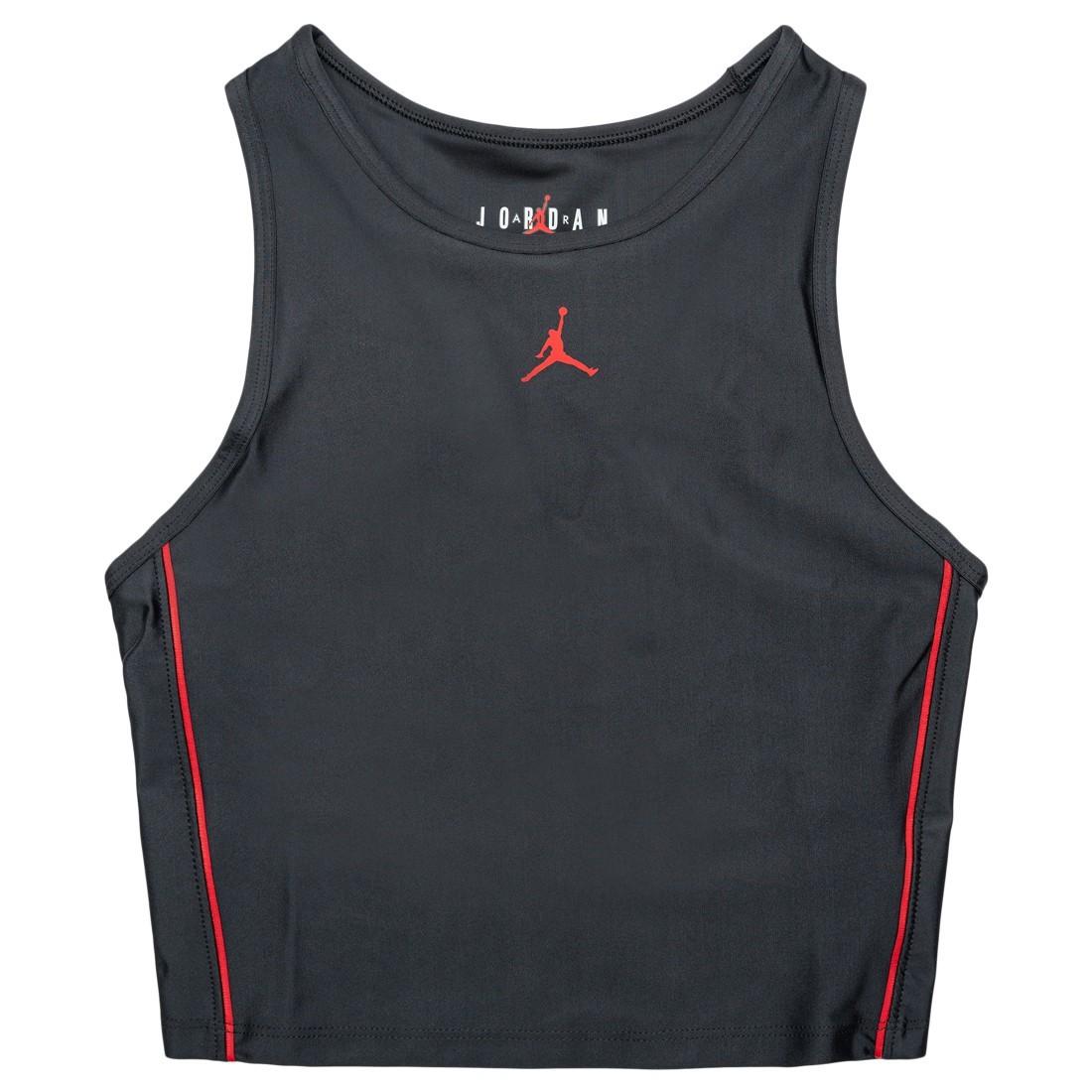 Jordan Women Essential Crop Top (black / black / university red)