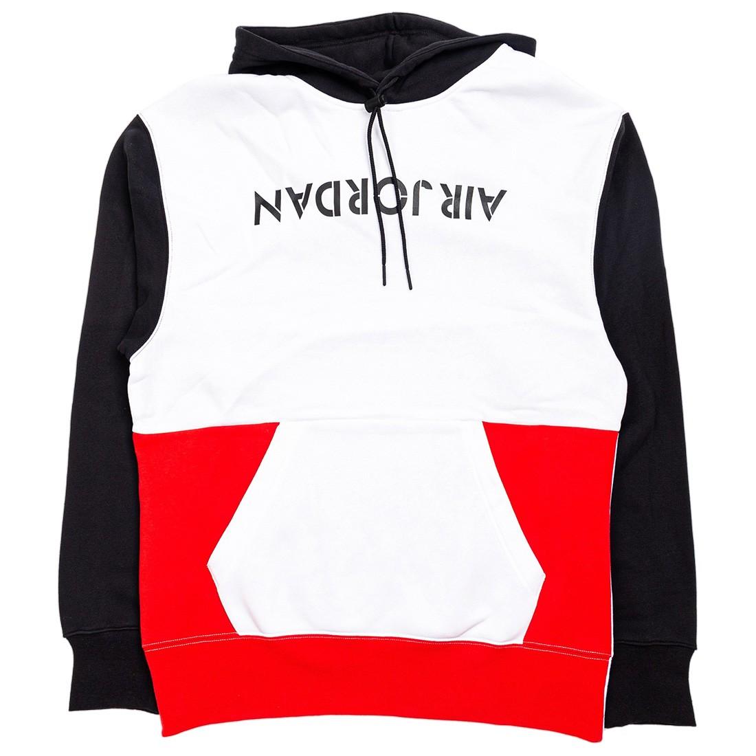 Jordan Men AJ4 Graphic Hoody (white / black / university red)