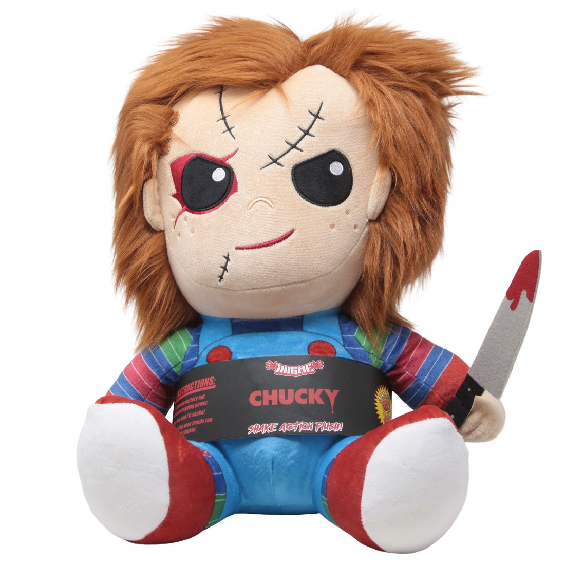 Kidrobot Child's Play Chucky HugMe Vibrating 16 Inch Plush (blue)
