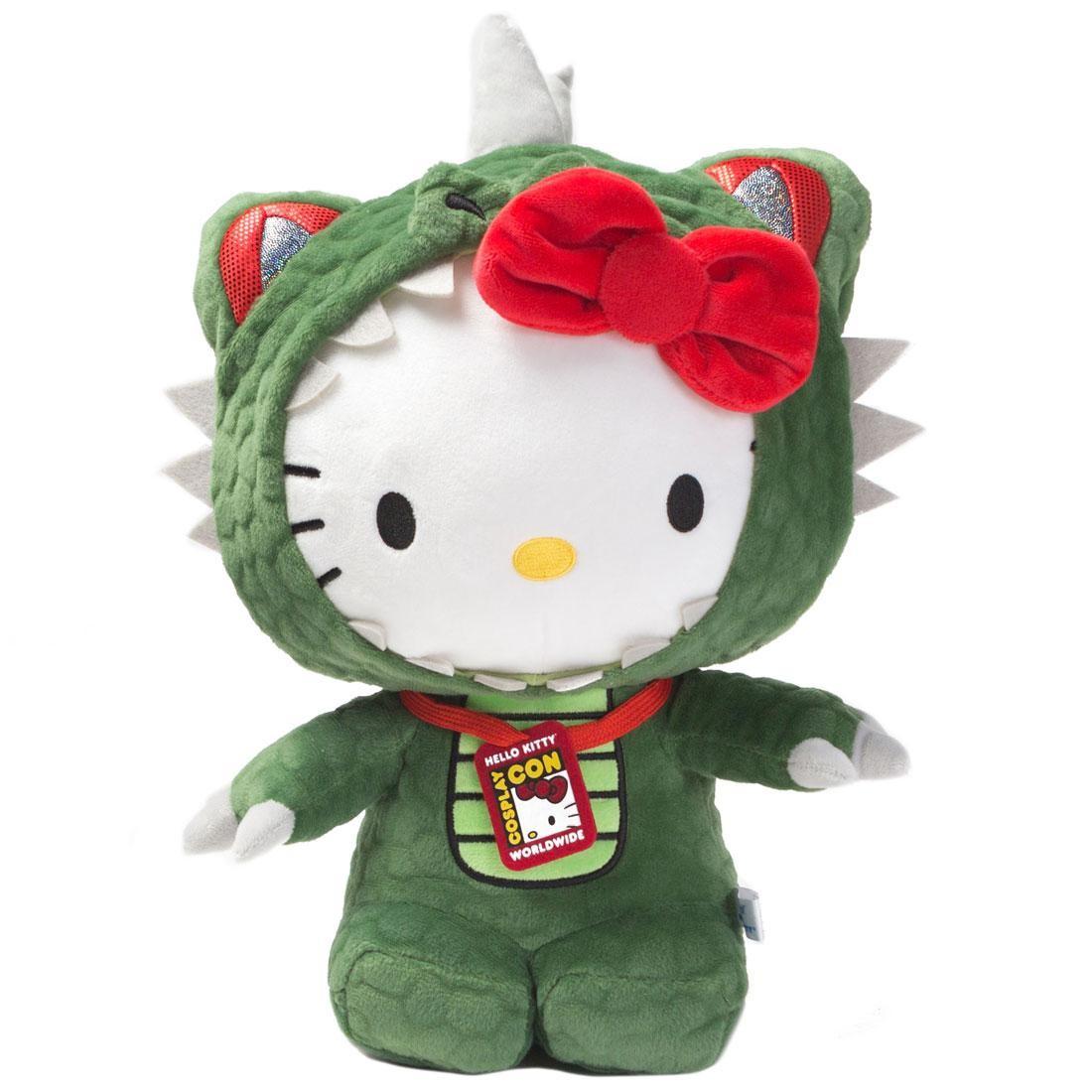 Kidrobot x Sanrio Hello Kitty Kaiju Cosplay Plush (green)