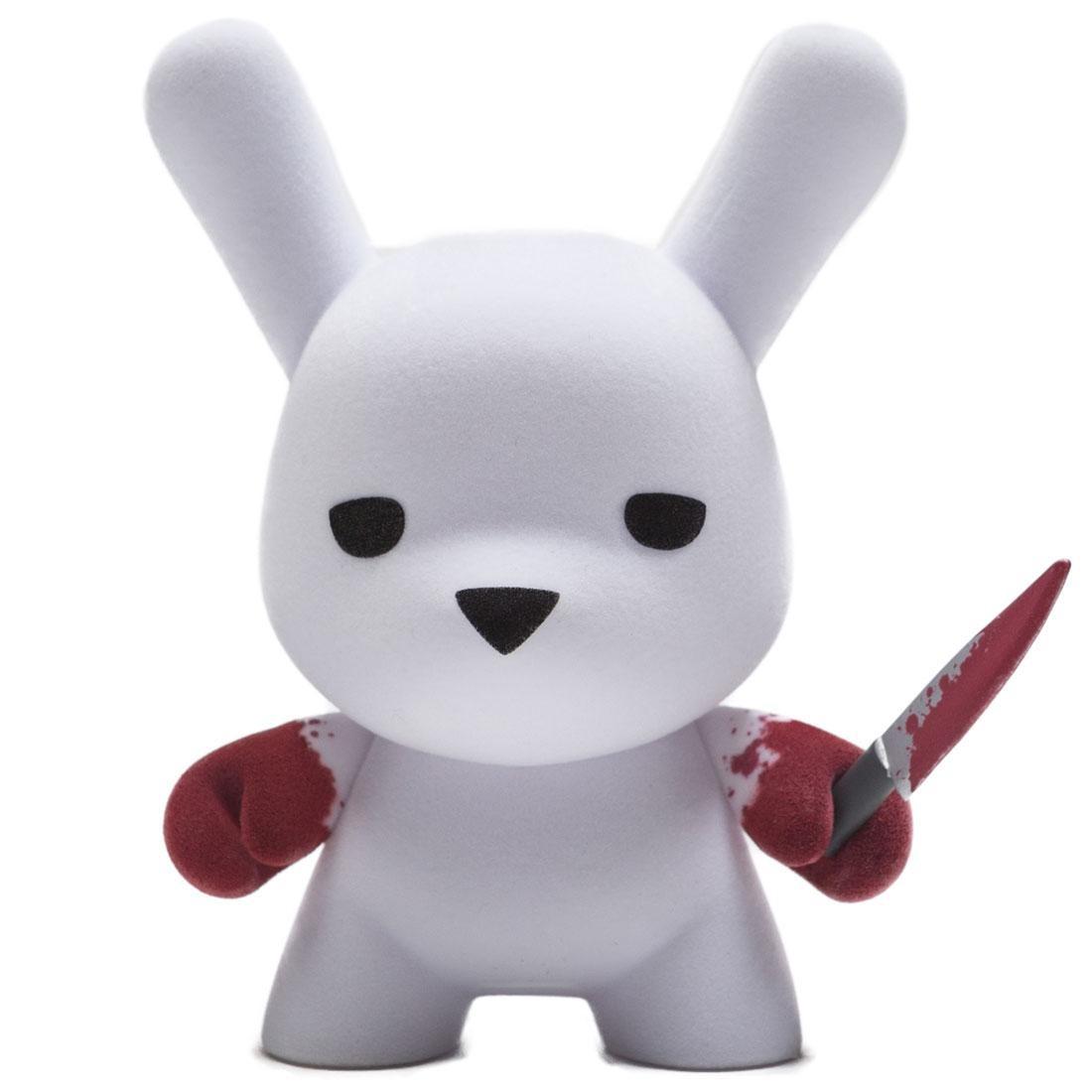 Kidrobot x Luke Chueh Wannabe Flocked Dunny 5 Inch Art Figure (white / red)